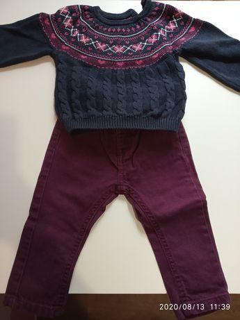 Комплект джинсы и свитер, 12-18 месяцев