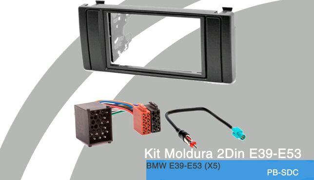 Aro/Moldura Radio 2DIN NOVO p/BMW E39 e X5 E53