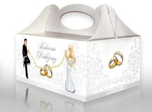 Pudełko pojemnik na tort ciasto ślub wesele