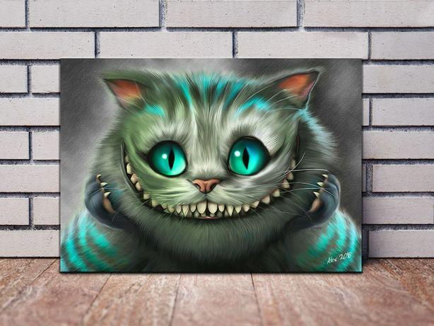 Картины на холсте Алиса в Стране Чудес Чеширский кот Шляпник Чаепитие