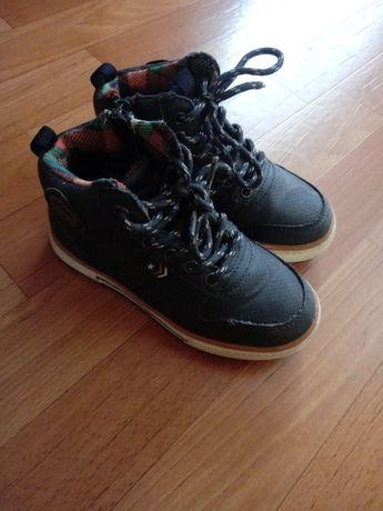 Granatowe buty adidasy za kostkę na wiosnę jesień Action Boy CCC 28