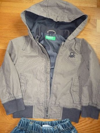 Casaca Benetton 12/18 meses + calças de ganga menino