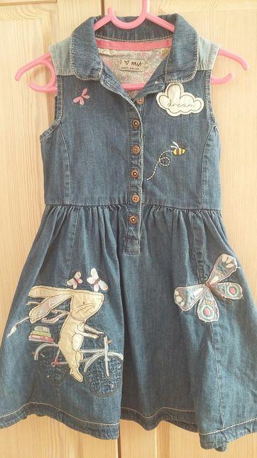 Sukienka jeansowa NEXT r. 110 na 4-5 lat