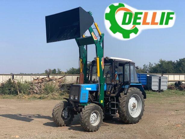Фронтальный погрузчик КУН на трактор МТЗ, Dellif Light 1200 ковш 2 м