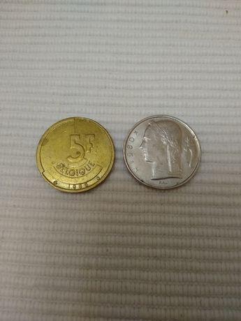 Монеты 5 Франков Бельгия ( FR )