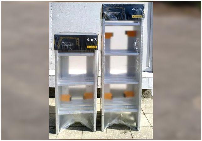 Лестница алюминиевая трансформер, шарнирная (4х4 и 4х3)