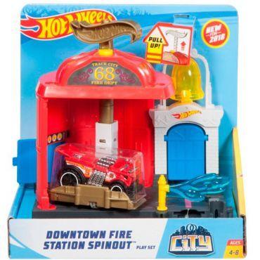 Пожарная станция Hot Wheels,трек хот вилс Оригинал