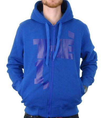 Nowa bluza The 1 One SSG rozpinana z kapturem M logo niebieska