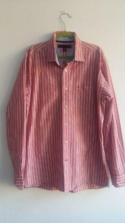Tommy Hilfiger koszula M męska czerwona paski