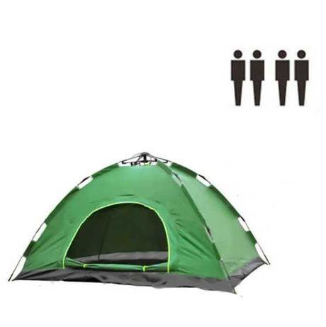 Палатка автомат четырехместная зеленая