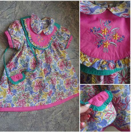 Винтажное хлопковое платье.