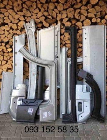 Кузовные детали. Пороги, арки, Ремкомплект на Mercedes Sprinter/VW LT