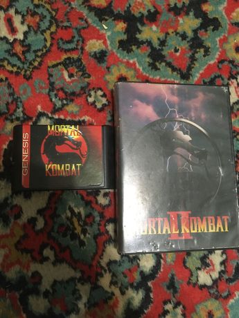 Mortal Kombat 1 и 2 в коробке sega mega drive 2