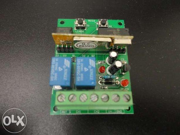 Receptor para portão de garagem + 2 emissores