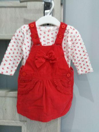 Sukienka 5 10 15, Komplecik 5 10 15 sukieneczka, body + gratis roz. 74