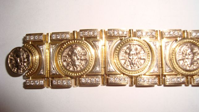 Золото, бриллианты, браслет