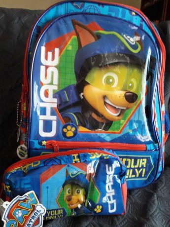 Conjunto mochila e estojo Patrulha Pata Paw Patrol - NOVO com etiqueta