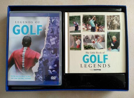 Embalagem com livro + DVD sobre Golf