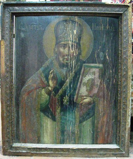 Икона Николай в раме