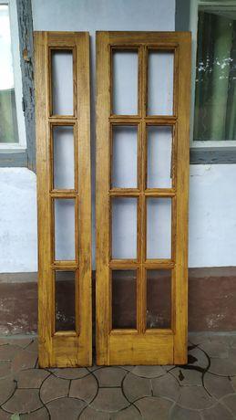 Двери дубовые двупольные