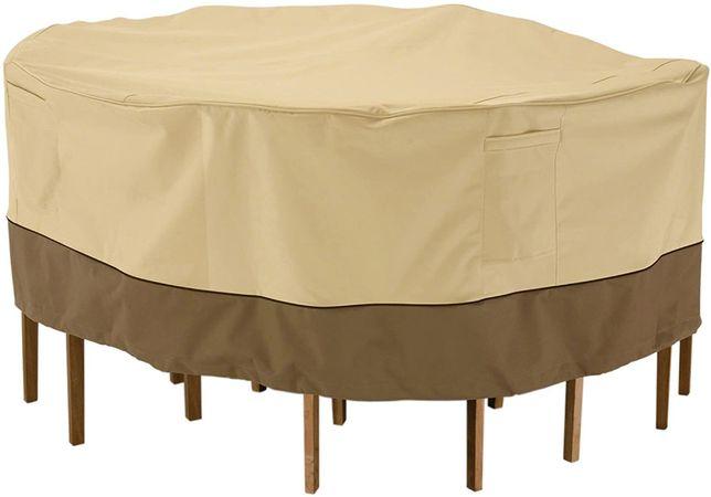 Pokrowiec wodoszczelny na stół, krzesła Patio,weranda. Okrągły