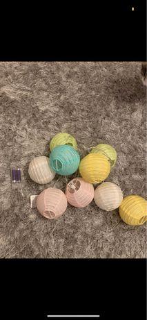 zestaw cotton balls+ świecąca chmurka NOWE