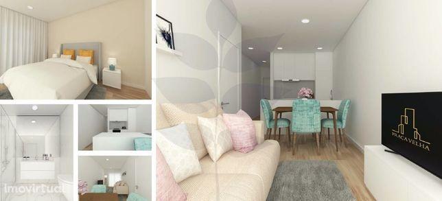 Apartamento T1+1 NOVO com Terraço - Centro da cidade - Rua D. Pedro V