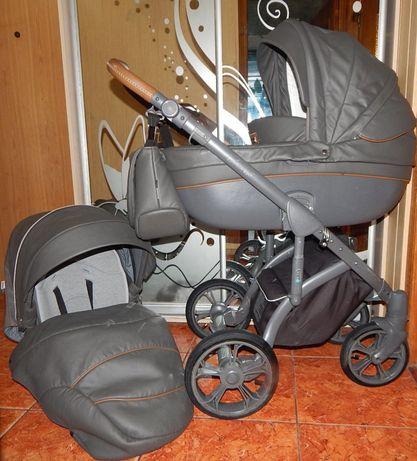 Универсальная классическая коляска 2в1 Эко-кожа
