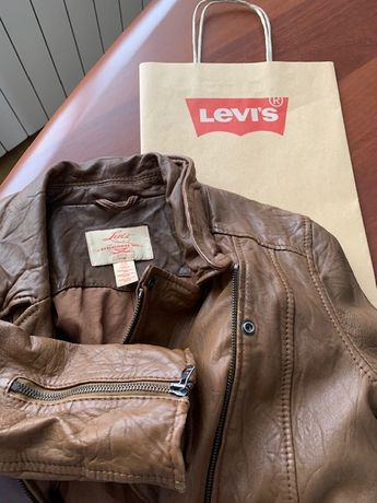 Куртка кожанка Levi's Левайс оригинал кожа
