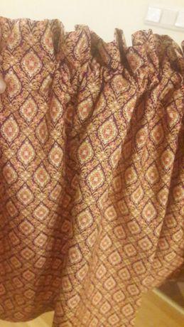 Bawełniana zazdrostka ,lambrekin 161 x 38 -beż/rudy/fiolet