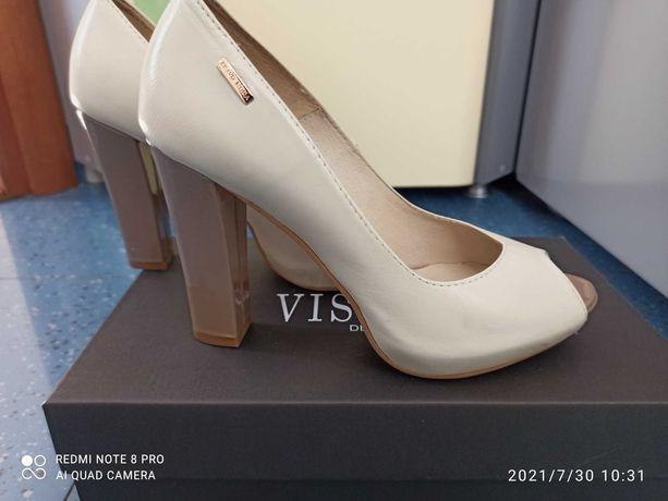 Туфли с открытым носком, Bravo Moda, кожа, 37 р-р