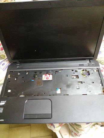 Ecrã LCD e palm rest completo com rato touch e colunas
