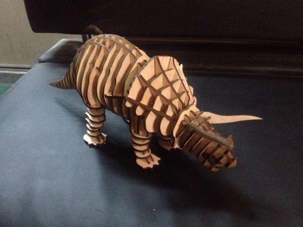 конструктор 3д пазл динозавр (triceratops) ,(ТРИЦЕРАТОПС )
