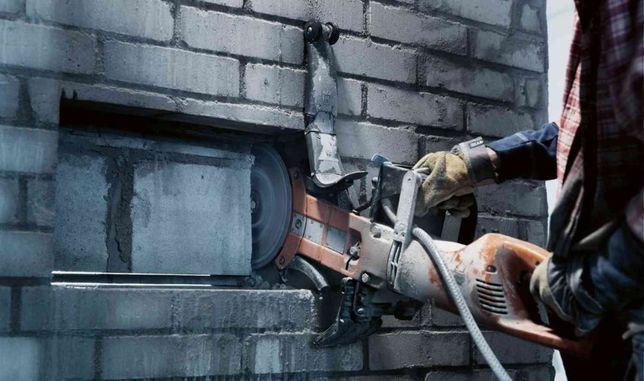 Алмазная резка бетона. Сверление отверстий