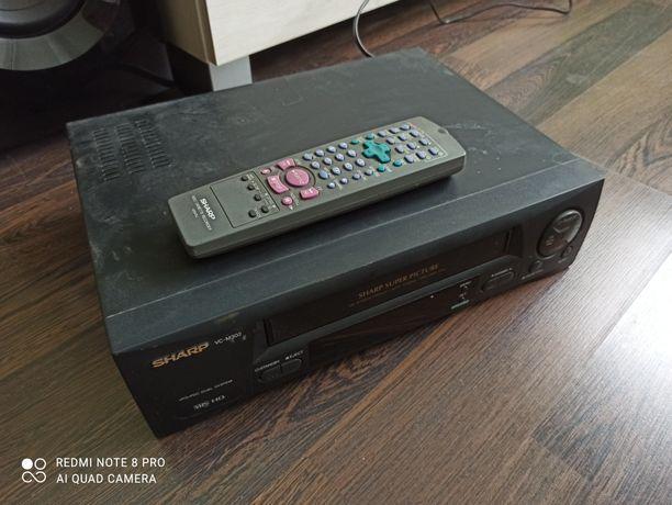Video magnetowid VHS Sharp z pilotem