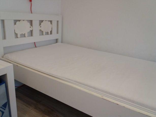 Łóżko dziecięce Ikea kritter 70x160 z materacem, białe