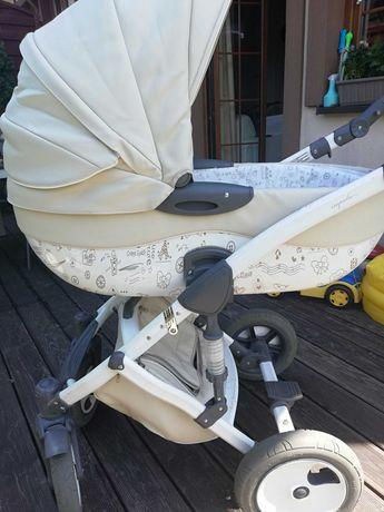 Zestaw: wózek dziecięcy+fotelik samochodowy+wisząca kołyska