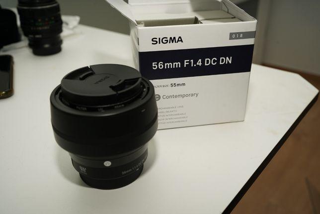 Sigma C 56mm f/1.4 DC DN Micro 4/3 - GWARANCJA stan IGŁA