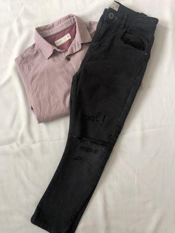 Spodnie jeansy ZARA 122