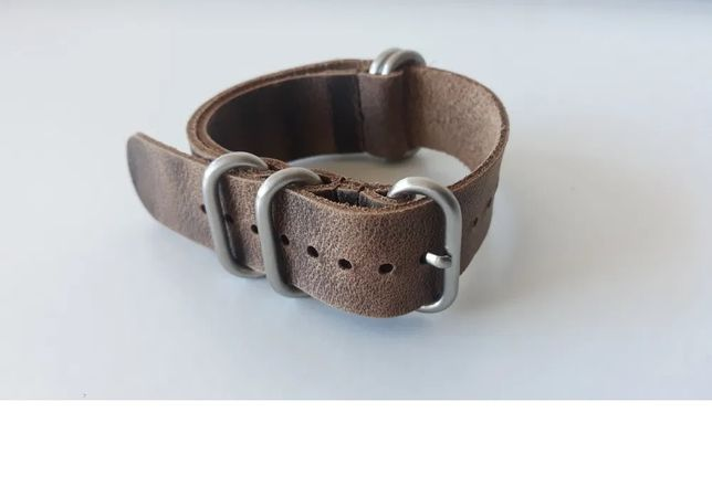 Bracelete Nato Zulu Pele 22mm