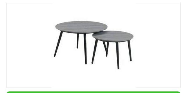 Лаунж столик VEBBESTRUP 2шт сірий
