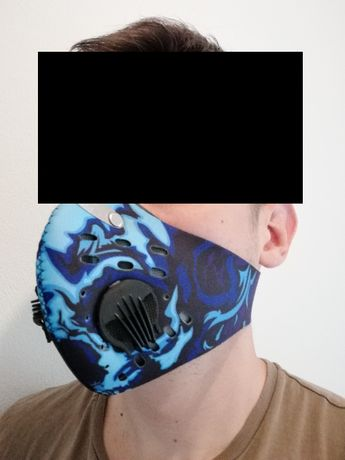 Modna antysmogowa i antywirusowa maska ochronna na twarz