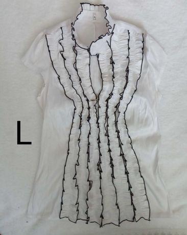 Белая блузка на молнии