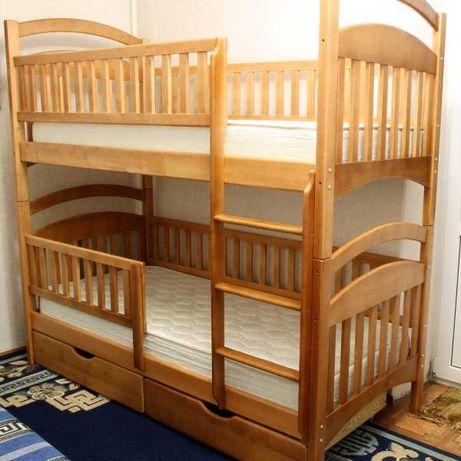 Кровать двухъярусная+матрасы+ящики, отправка от производителя