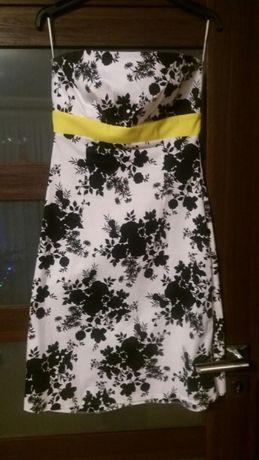 Sukienka biało czarna rozmiar 38