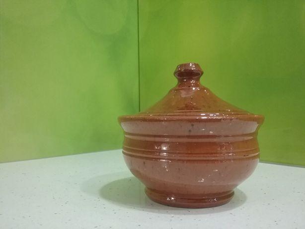 Cukiernica, miska z przykrywką. Ceramiczne hand made Poland. Piękne.