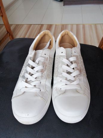 Adidasy Skechers białe 39 sneakersy skóra
