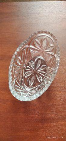 Кришталева ваза для фруктів і солодощів