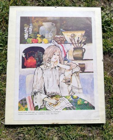 Obraz ilustracja do książki Kopciuszek antyrama 28x35 cm cena do negoc