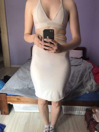 Dwu czesciowy kostium / sukienka (top + spódnica) rozmiar S